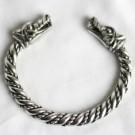 Viking Fealty Wrist Torc - Wolf Bracelet