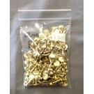 12mm Double Crown Rivets - Gilt