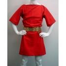 Red Wool Roman Tunic