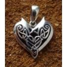 Celtic Hearth - Silver Talisman
