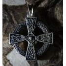 CELTIC CROSS, double sided silvered pendant
