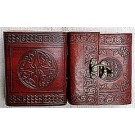 Leather Covered Journal with clasp 9.5 x 8cm