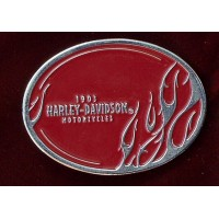 Harley Davidson - Oval with Red Flames