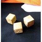 Wooden Playing Dice x 3