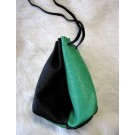 Small Pouch - Black & Green