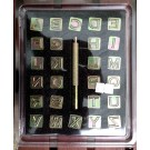 "1/2"" Block Alphabet Stamp Set"