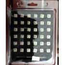 "Script 1/4"" Alphabet Stamp Set"