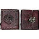 Leather Covered Journal with clasp 12.5 x 10.5cm