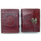 Leather Covered Journal with clasp 15.5 x 11.5cm
