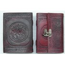 Leather Covered Journal with clasp 18.5 x 13cm