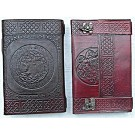 Leather Covered Journal with clasp 22 x 14cm